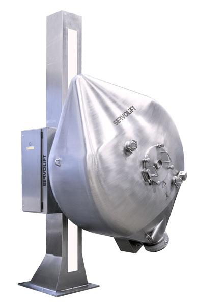 Mezcladora con elevación para carga